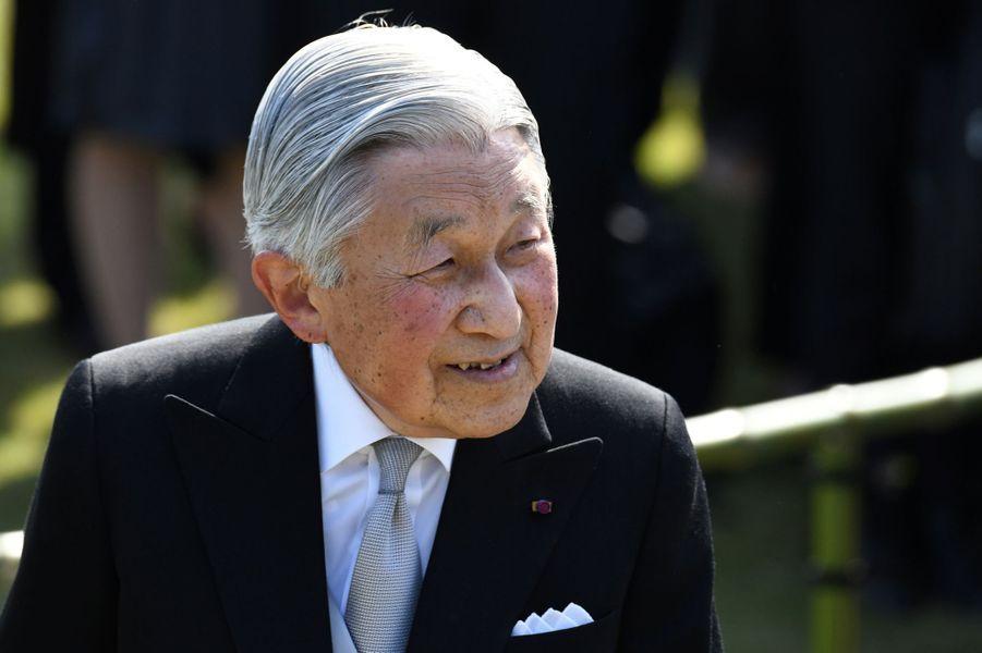 L'empereur Akihito du Japon à Tokyo, le 25 avril 2018