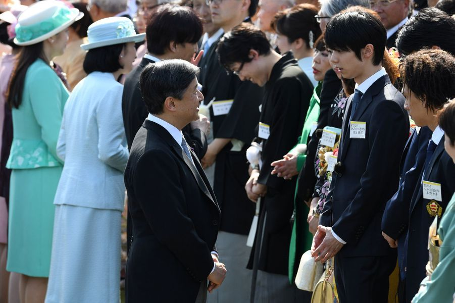 Les princes Naruhito et Akishino et les princesses Kiko et Mako du Japon à Tokyo, le 25 avril 2018
