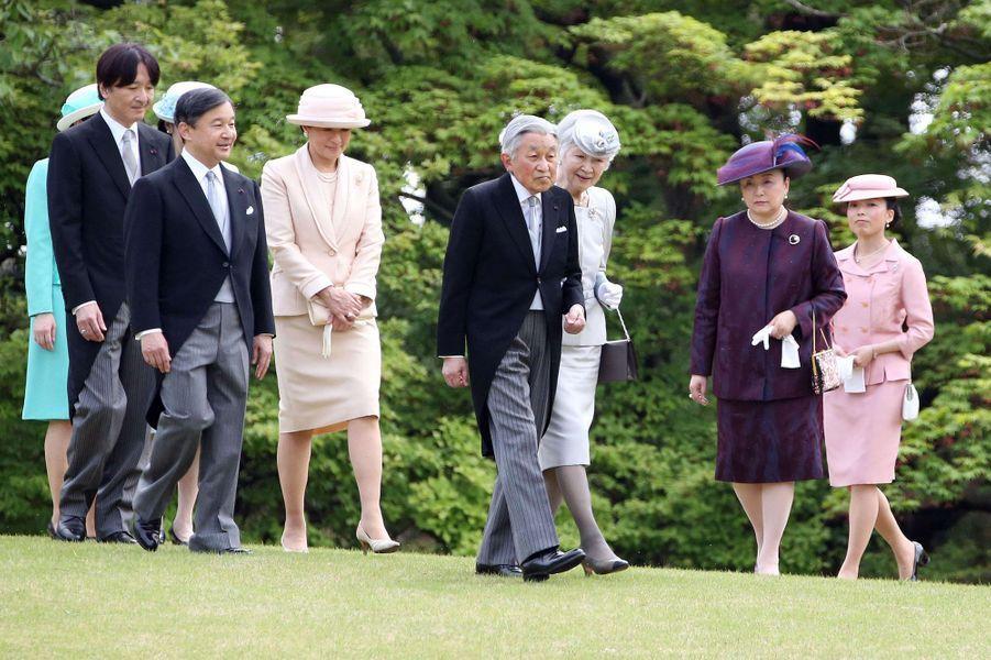 La famille impériale du Japon à Tokyo, le 25 avril 2018