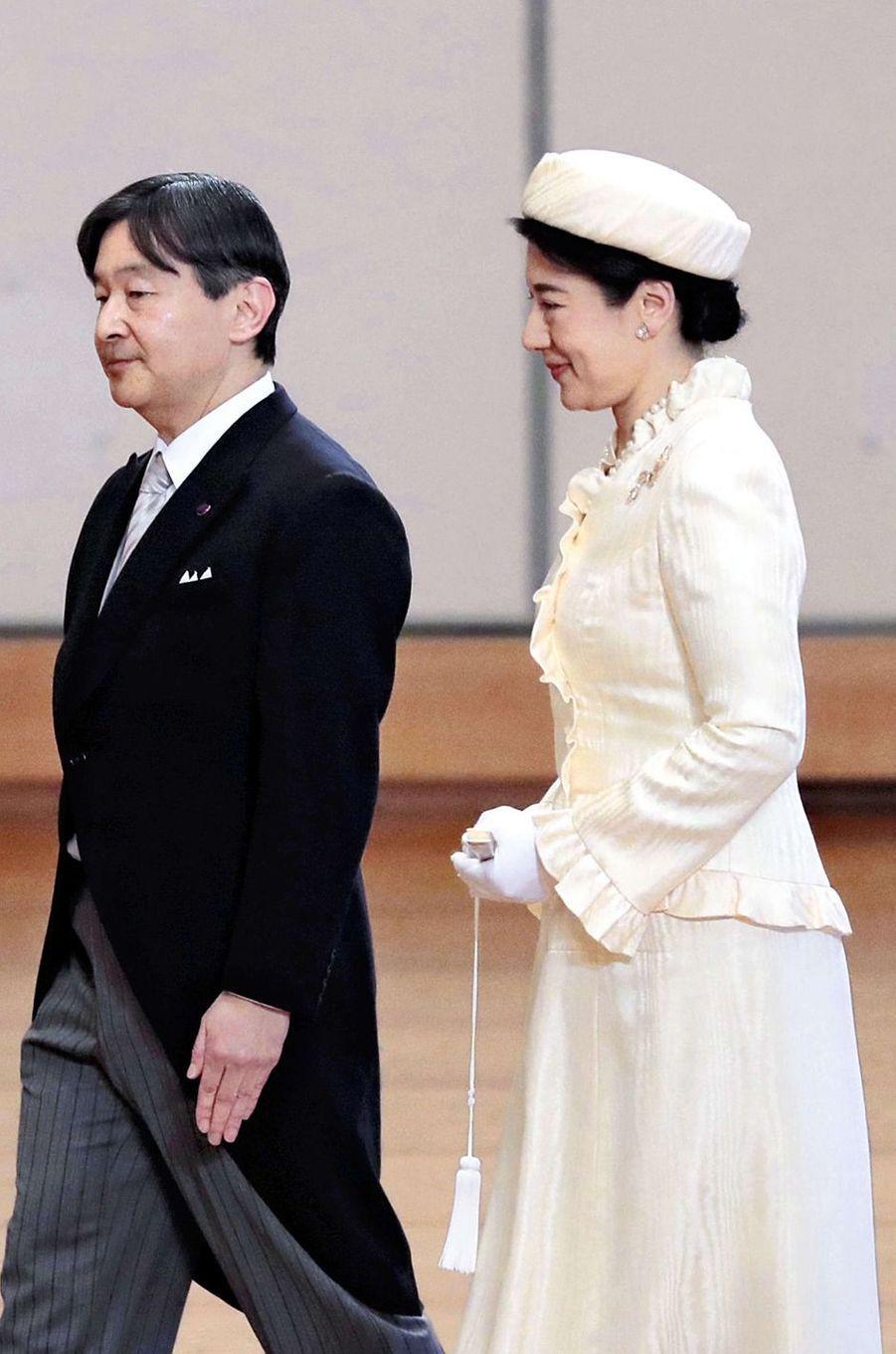 La princesse Masako et le prince Naruhito du Japon à Tokyo, le 10 avril 2019