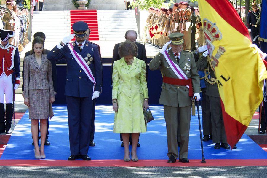 La Casa Real rend hommage à ses soldats disparus