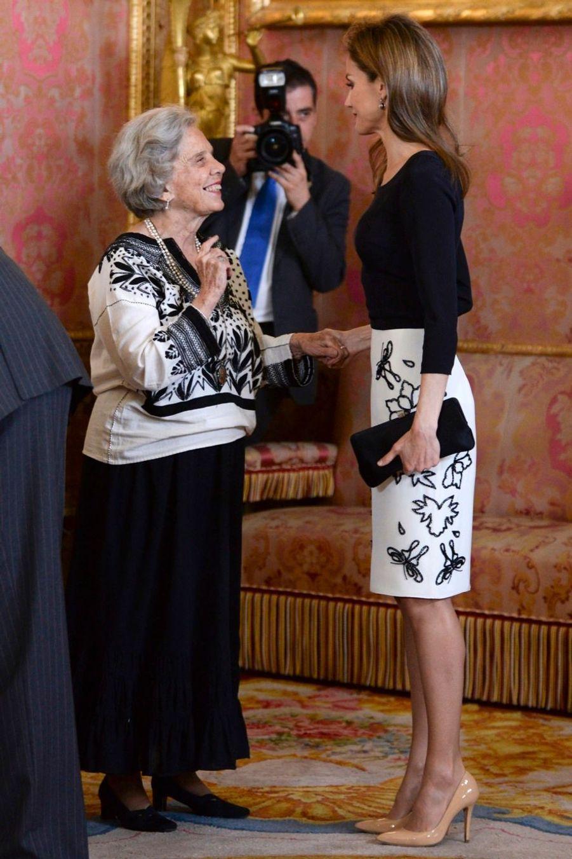 La famille d'Espagne réunie pour le prix Cervantes