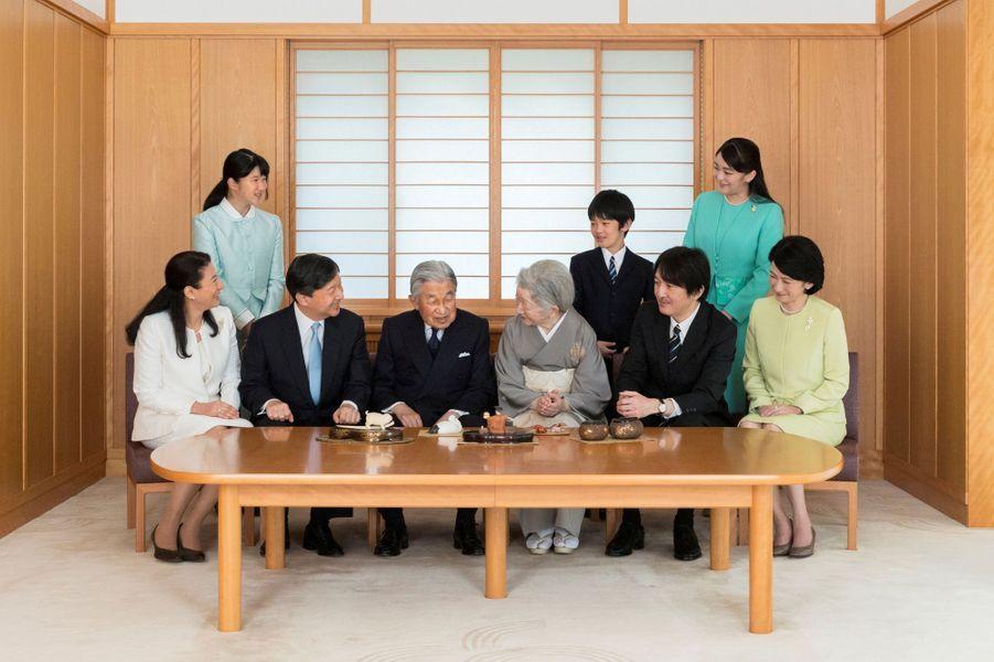 La famille impériale du Japon, le 4 novembre 2017. Photo diffusée le 31 décembre 2017 pour la nouvelle année
