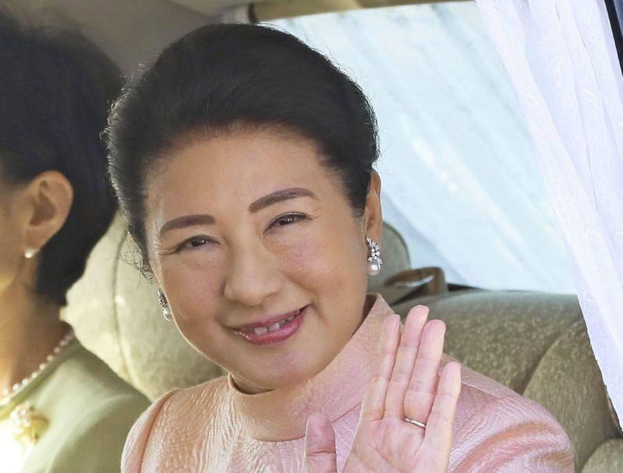 L'impératrice Masako du Japon arrive au Palais impérial à Tokyo le 23 février 2020