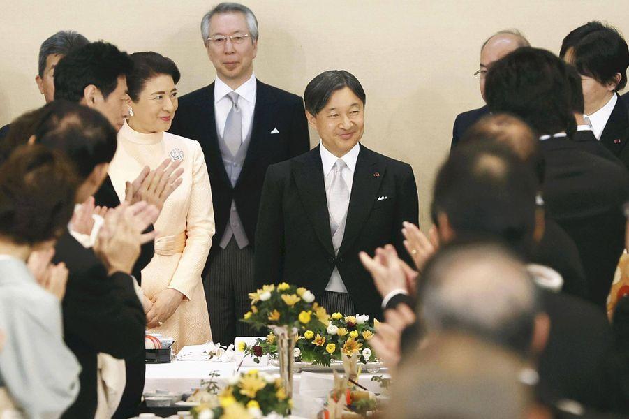 L'empereur Naruhito et l'impératrice Masako du Japon au Palais impérial à Tokyo, le 23 février 2020