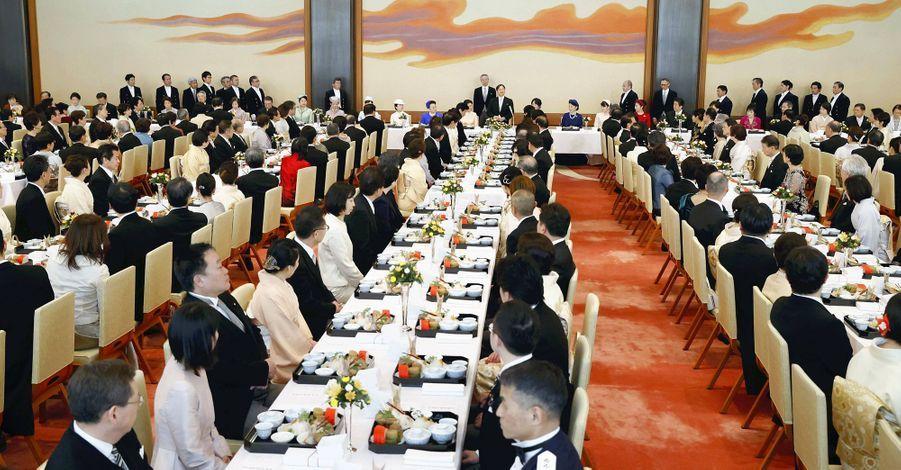 Le déjeuner du 60e anniversaire de l'empereur Naruhito du Japon au Palais impérial à Tokyo le 23 février 2020