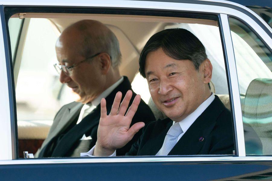 L'empereur Naruhito du Japon arrive au Palais impérial à Tokyo le 23 février 2020