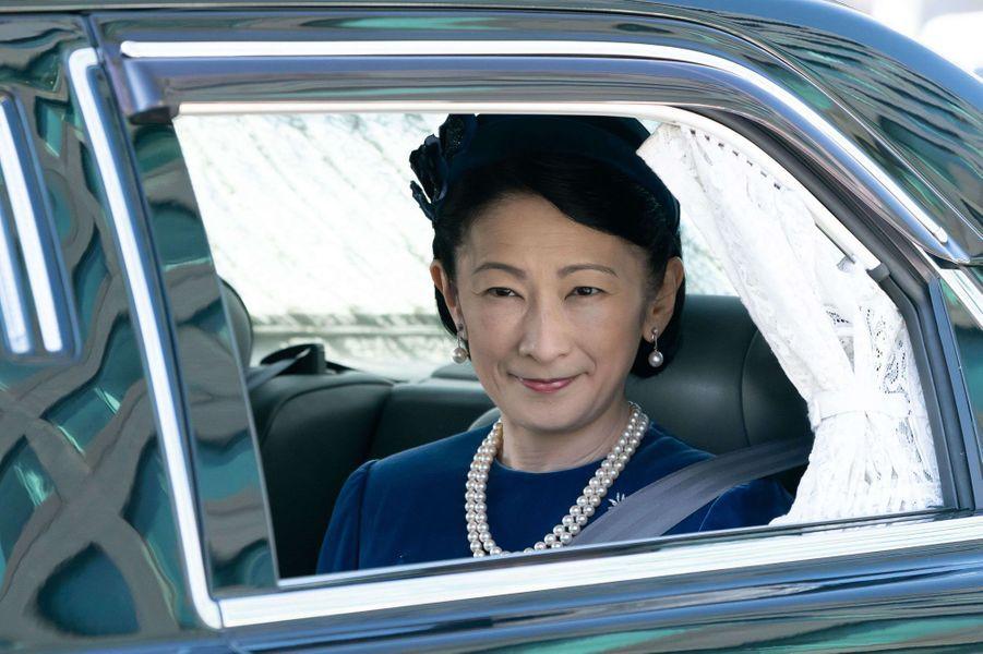 La princesse Kiko du Japon arrive au Palais impérial à Tokyo le 23 février 2020