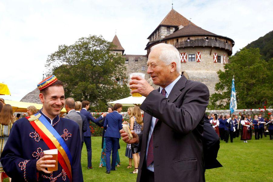 Le prince Hans Adam II de Liechtenstein à Vaduz, le 15 août 2019