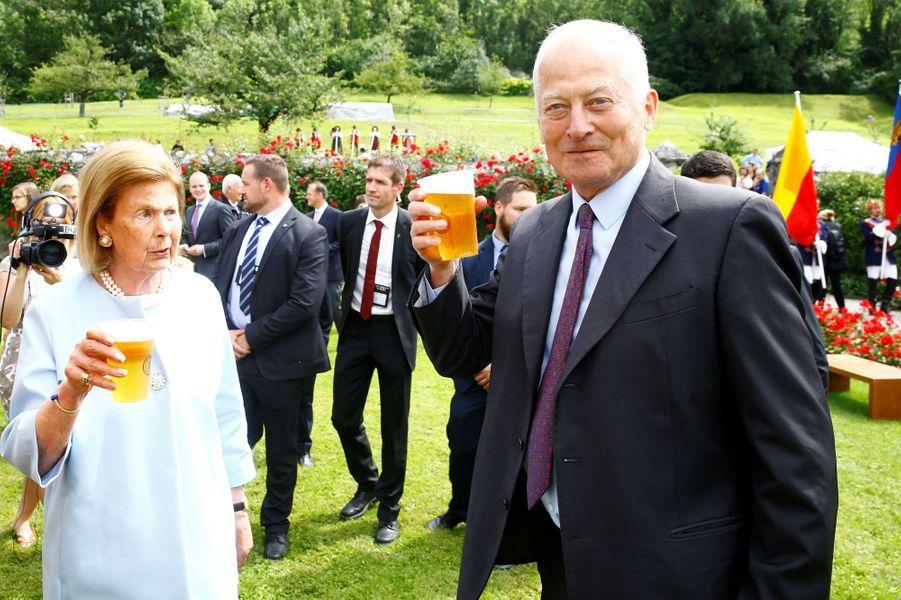 La princesse Marie et le prince Hans Adam II de Liechtenstein à Vaduz, le 15 août 2019
