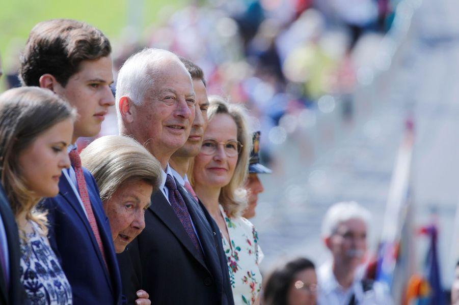La famille princière de Liechtenstein à Vaduz, le 15 août 2019