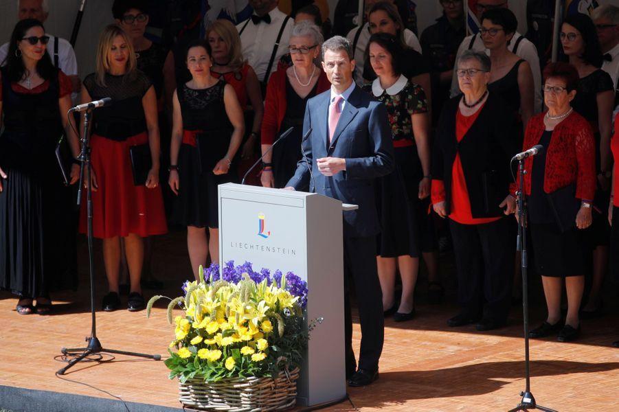 Le prince Aloïs de Liechtenstein à Vaduz, le 15 août 2019