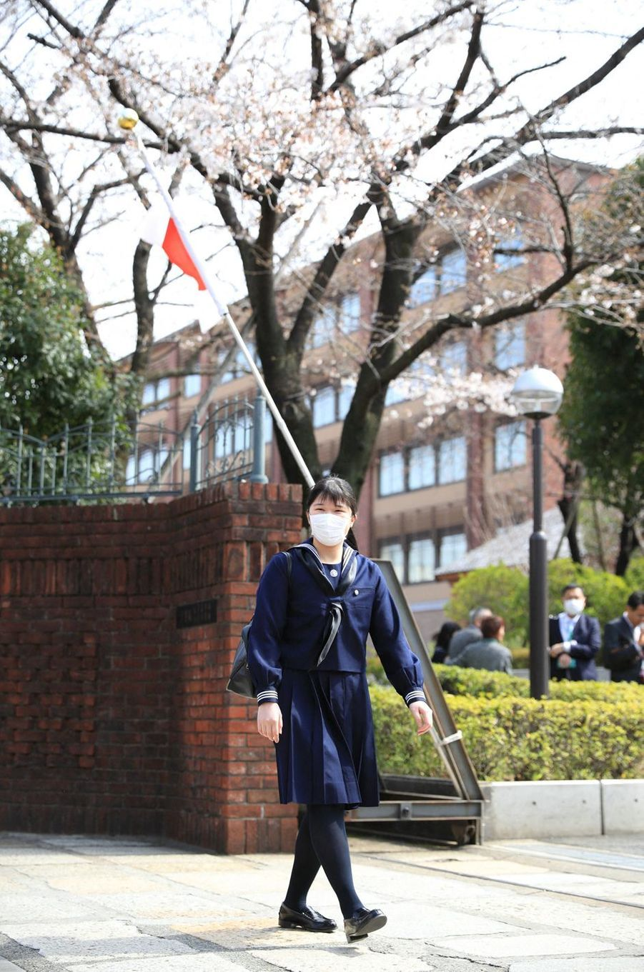 La princesse Aiko du Japon portant un masque à Tokyo, le 22 mars 2020