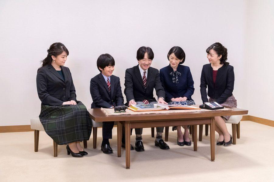 Le prince Fumihito d'Akishino du Japon en famille. Photo réalisée le 15 novembre et diffusée le 30 novembre 2019 pour ses 54 ans