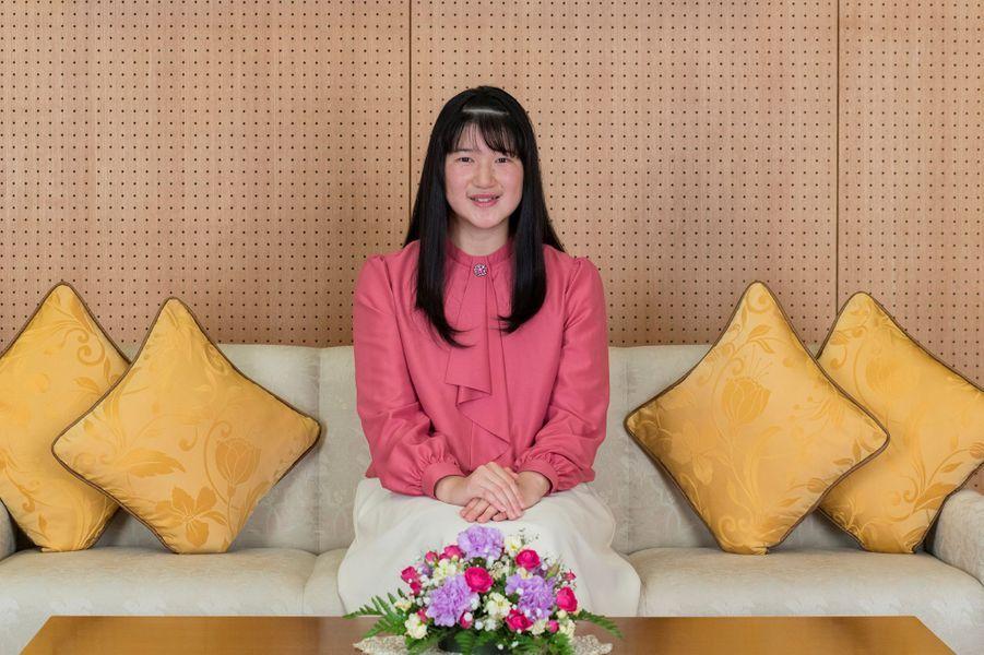 La princesse Aiko du Japon sur l'une des photos officielles de ses 18 ans, réalisées le 25 novembre et diffusées le 1er décembre 2019