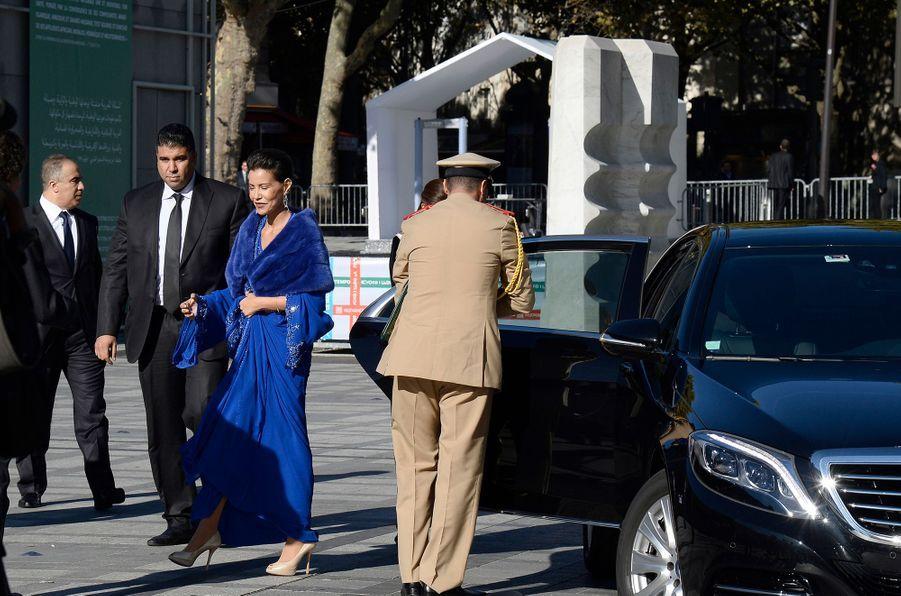 La princesse du Maroc Lalla Meryem à Paris, le 14 octobre 2014