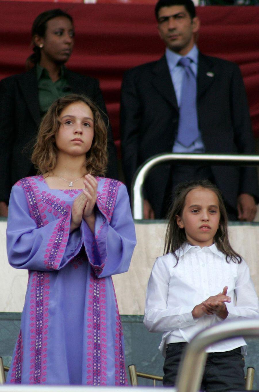 Les princesses Iman et Salma de Jordanie, le 9 juin 2009