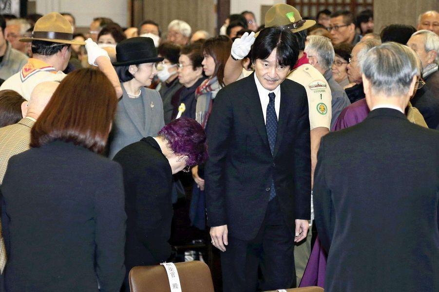 Le prince Fumihito d'Akishino et la princesse Kiko du Japonà Tokyo, le 10 mars 2019