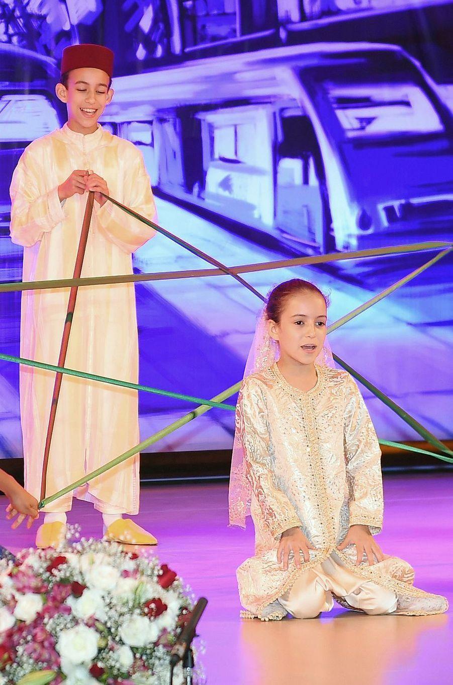 La princesse Lalla Khadija du Maroc avec son frère le prince Moulay El Hassan, le 17 juin 2015