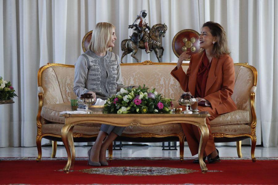 La princesse Lalla Meryem du Maroc reçoit Ivanka Trump à Rabat, le 6 novembre 2019