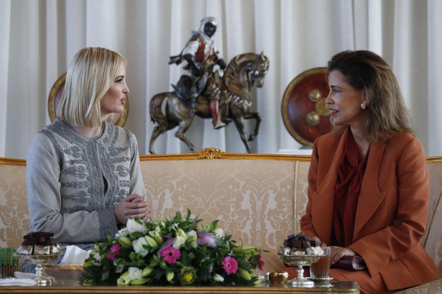 La princesse Lalla Meryem du Maroc et Ivanka Trump à Rabat, le 6 novembre 2019