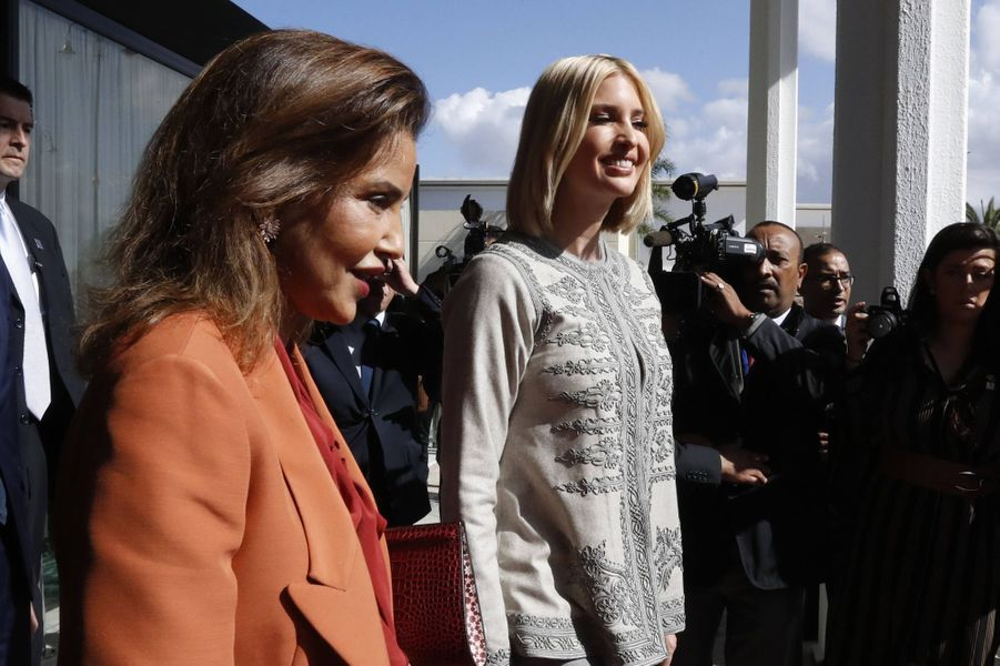 La princesse Lalla Meryem du Maroc avec Ivanka Trump à Rabat, le 6 novembre 2019