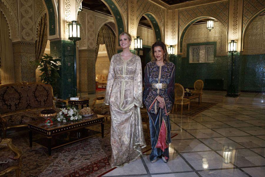 La princesse Lalla Meryem du Maroc avec Ivanka Trump à Rabat, le 7 novembre 2019