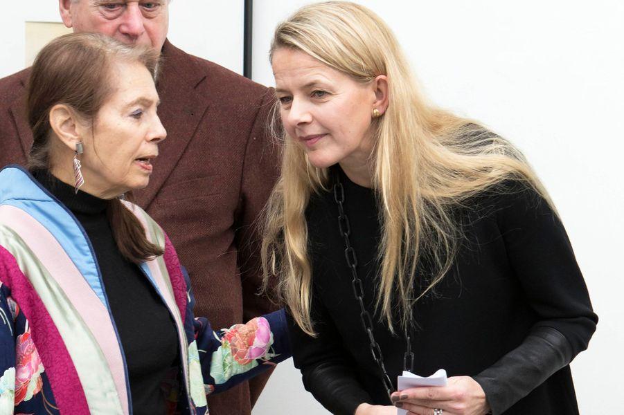 La princesse Mabel inaugure l'exposition de Carla Kleekamp à Alphen-sur-le-Rhin, le 1er février 2015