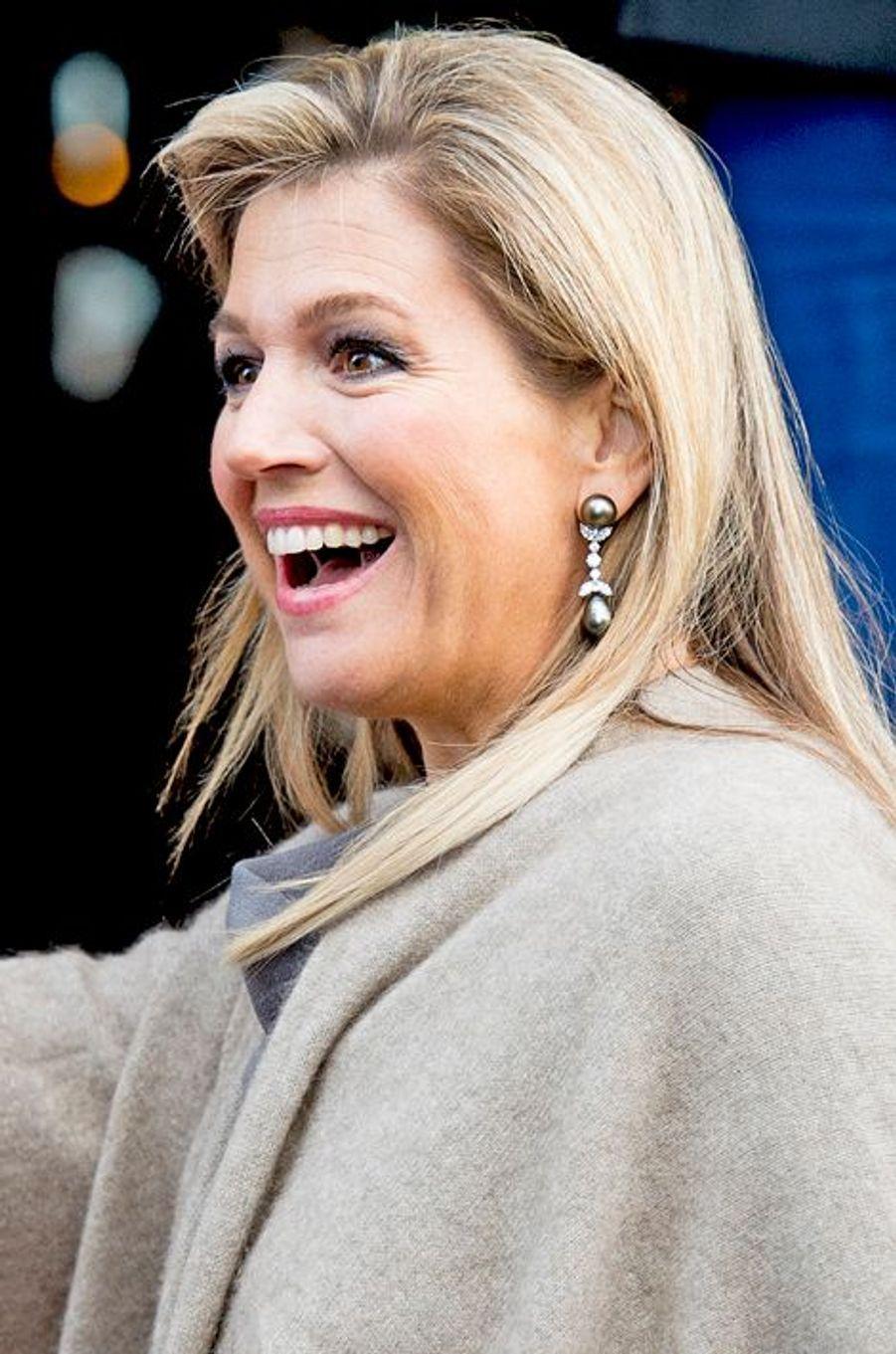 La reine Maxima des Pays-Bas au prix du prince Claus à Amsterdam, le 10 décembre 2014