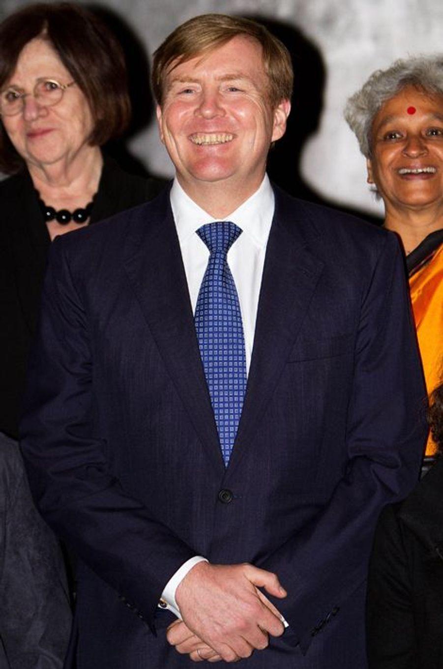 La roi Willem-Alexander des Pays-Bas au prix du prince Claus à Amsterdam, le 10 décembre 2014