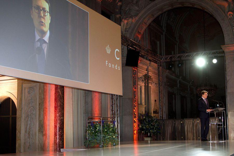 Le prince Constantijn au prix du prince Claus à Amsterdam, le 10 décembre 2014