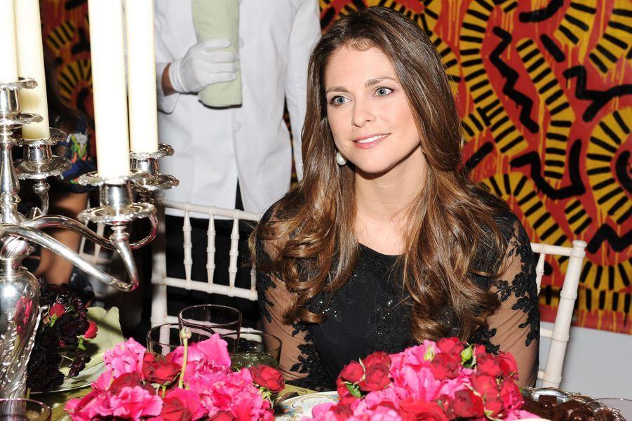 La princesse Madeleine de Suède à la soirée Valentino à New York, le 9 novembre 2014