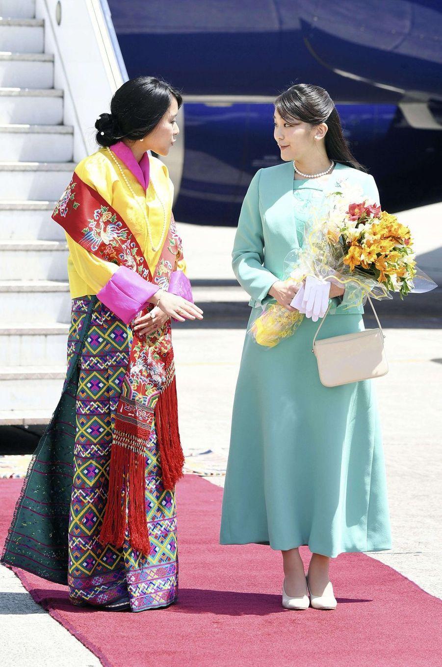 La princesse Mako du Japon et la princesse Euphelma du Bhoutan à Paro, le 1er juin 2017