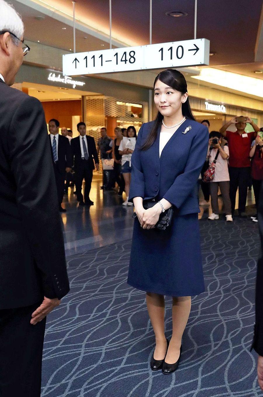 La princesse Mako du Japon part de Tokyo, le 17 juillet 2018