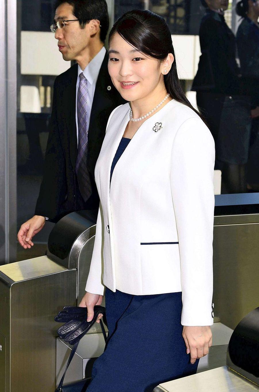 La princesse Mako du Japon de retour au Japon, le 31 juillet 2018