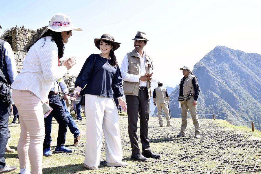 La princesse Mako du Japon sur le site du Machu Picchu au Pérou, le 13 juillet 2019