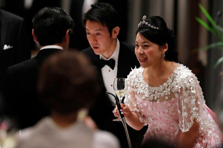 La princesse Ayako du Japon et Kei Moriya à Tokyo, le 30 octobre 2018