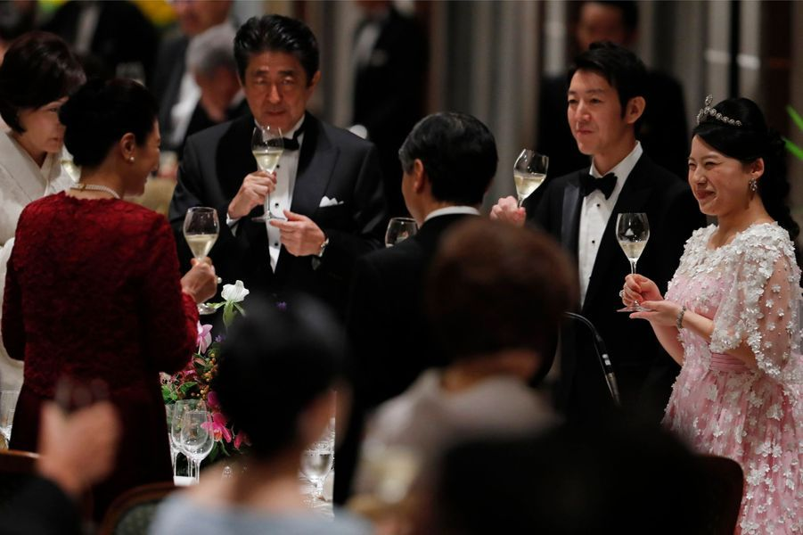 Banquet de mariage de la princesse Ayako du Japon et de Kei Moriya à Tokyo, le 30 octobre 2018
