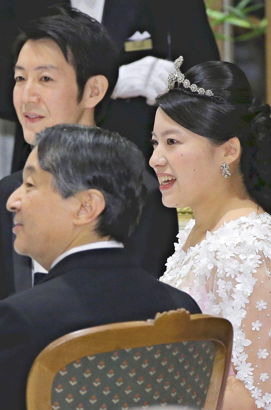 Le prince Naruhito du Japon avec la princesse Ayako et Kei Moriya à Tokyo, le 30 octobre 2018