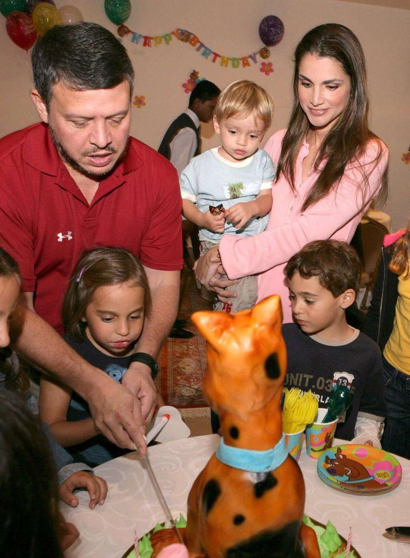 La princesse Salma de Jordanie avec ses parents et ses frères, le 26 septembre 2006