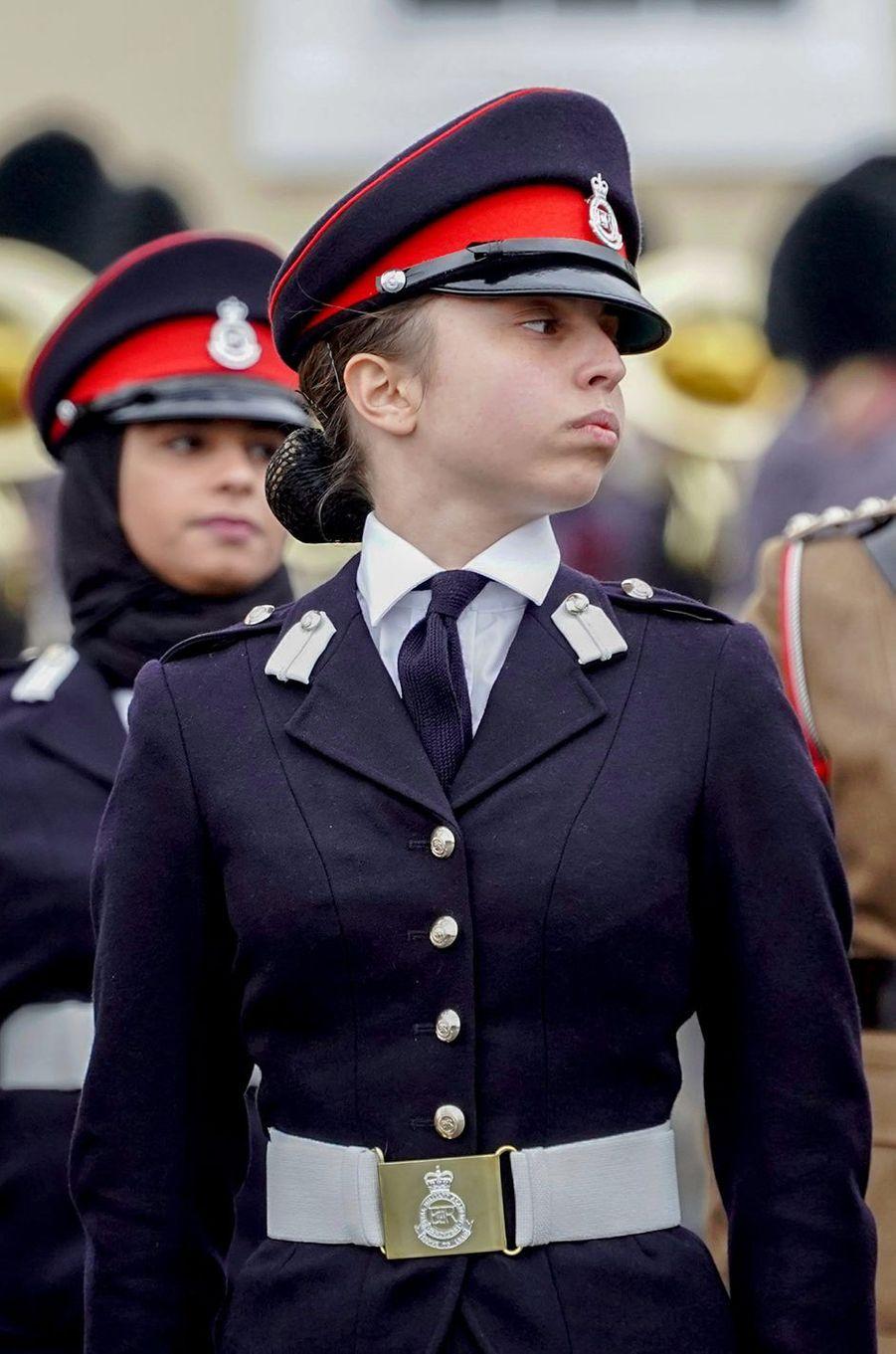 La princesse Salma de Jordanie à l'académie militaire de Sandhurst, le 24 novembre 2018
