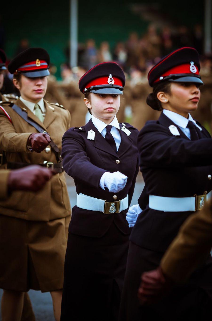 La princesse Salma de Jordanie à la Royal Military Academy Sandhurst, le 24 novembre 2018