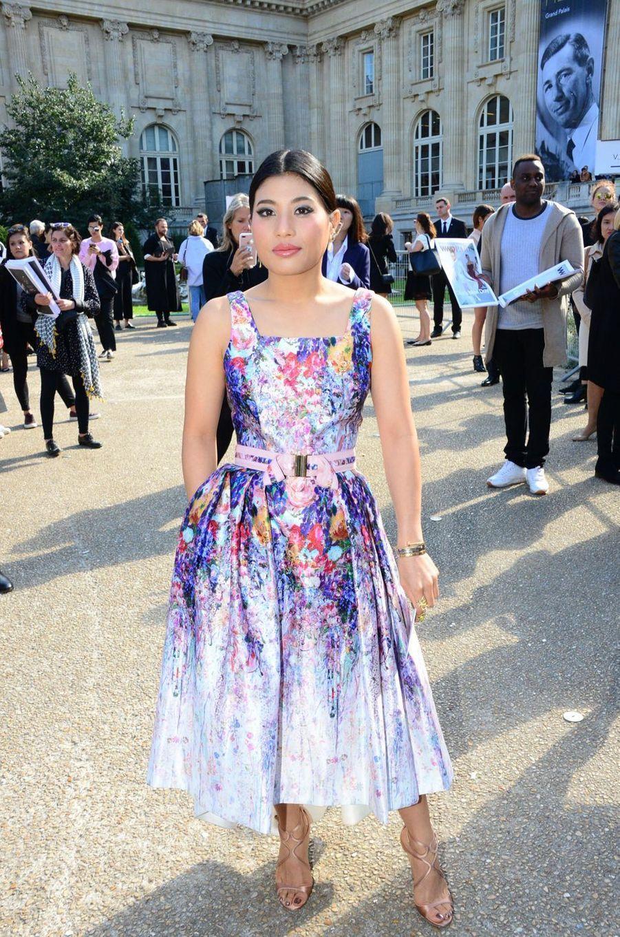 La princesse Sirivannavari Nariratana de Thaïlande à Paris, le 3 octobre 2016