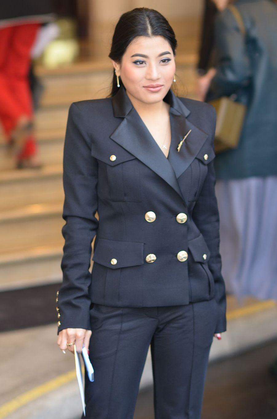 La princesse Sirivannavari Nariratana de Thaïlande à Paris, le 1er octobre 2015
