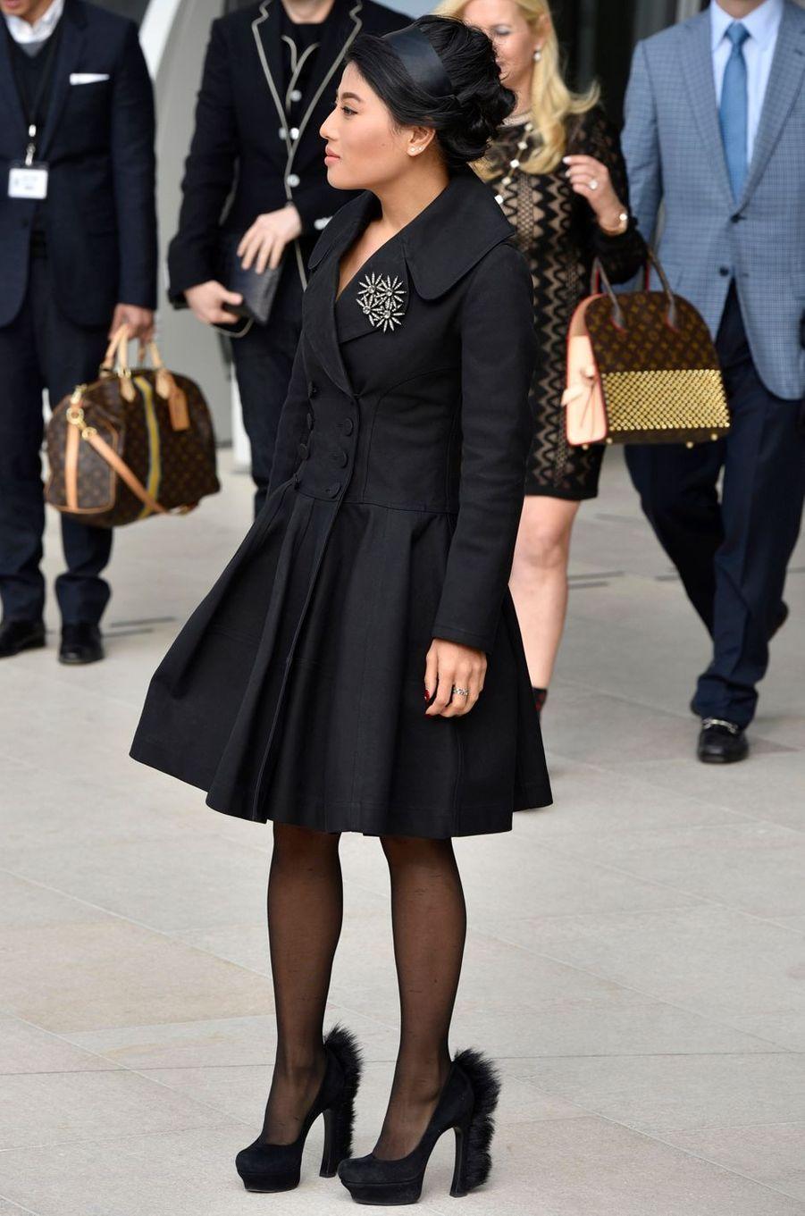 La princesse Sirivannavari Nariratana de Thaïlande à Paris, le 11 mars 2015