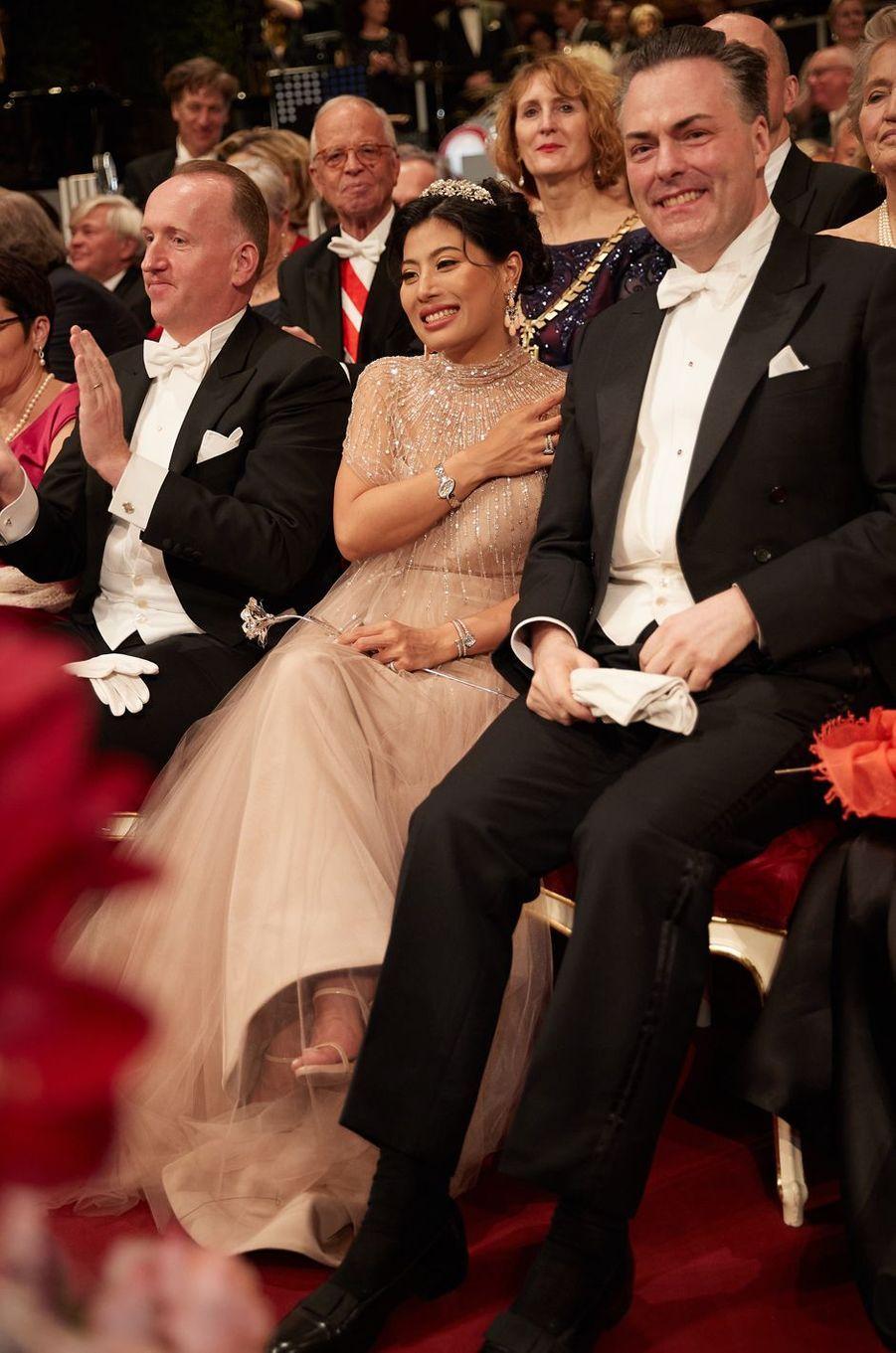 La princesse Sirivannavari Nariratana de Thaïlande avec le violoniste autrichien Daniel Froschauer à Vienne, le 23 janvier 2020