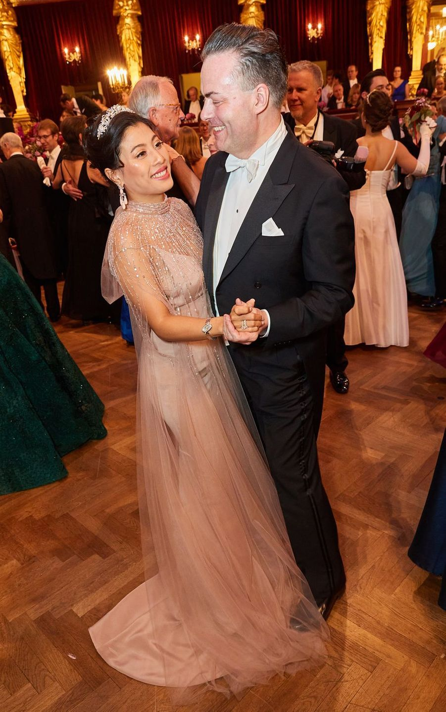 La princesse Sirivannavari Nariratana de Thaïlande avec Daniel Froschauer à Vienne en Autriche, le 23 janvier 2020