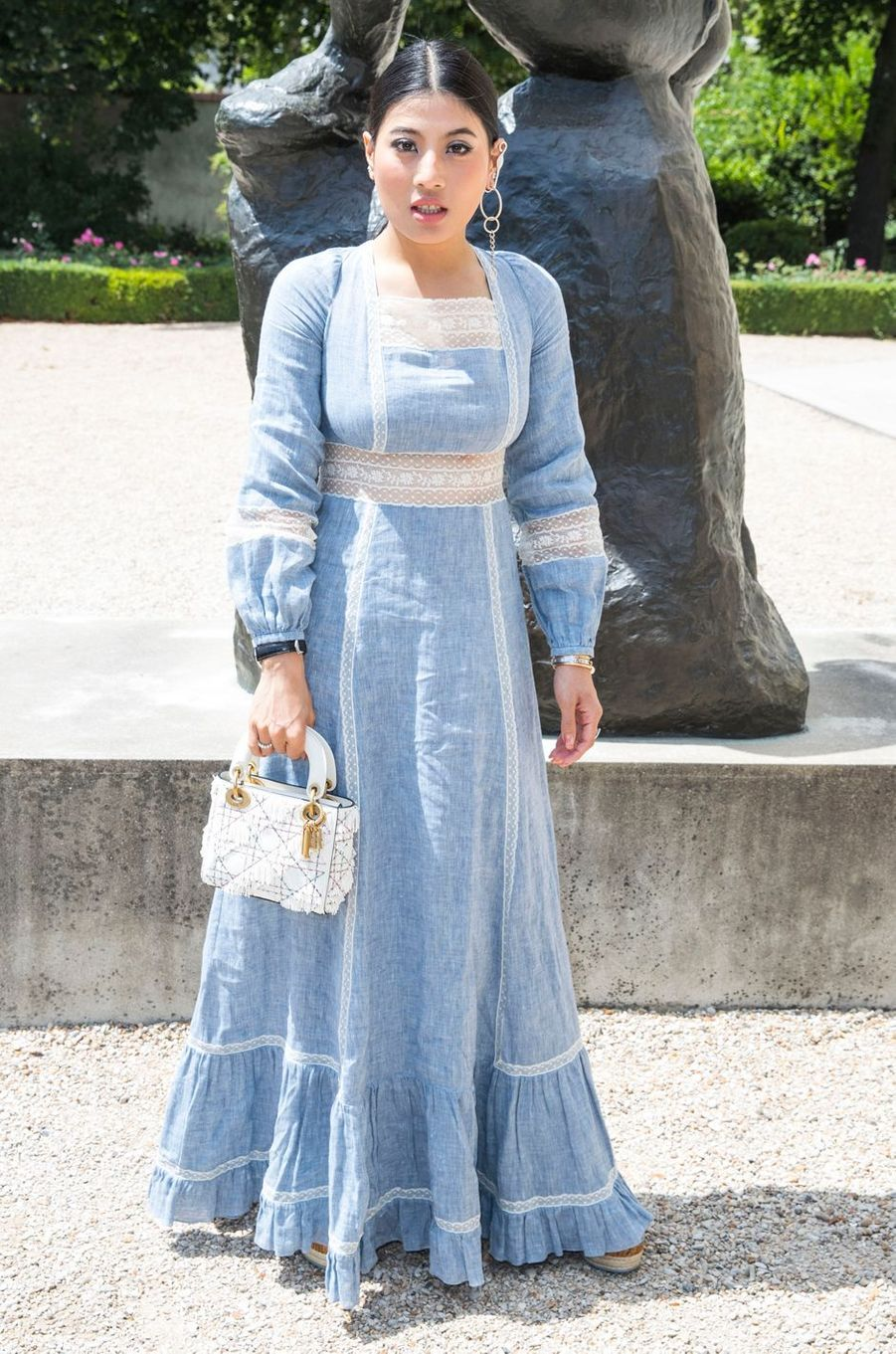 La princesse Sirivannavari Nariratana de Thaïlande au défilé Christian Dior à Paris, le 2 juillet 2018