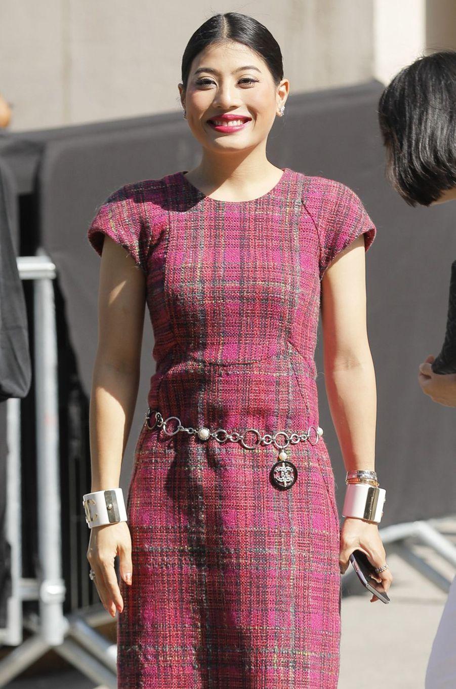 La princesse Sirivannavari Nariratana de Thaïlande au défilé Chanel à Paris, le 3 juillet 2018