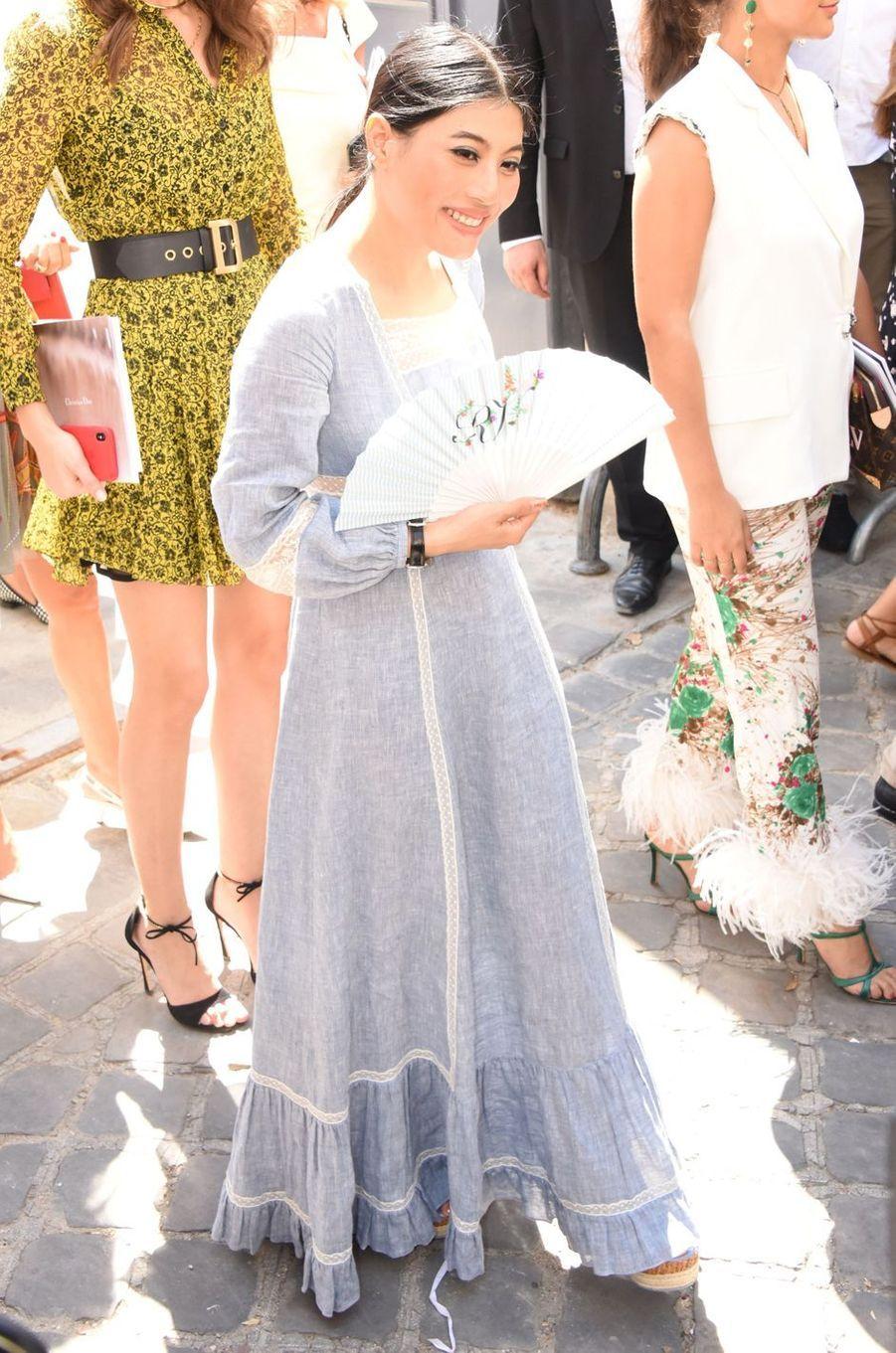 La princesse Sirivannavari Nariratana de Thaïlande à la Fashion Week à Paris, le 2 juillet 2018